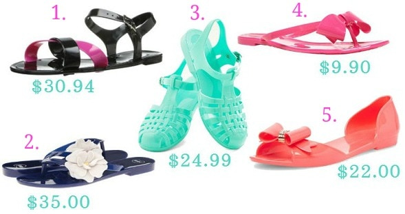 Inexpensive jelly sandals