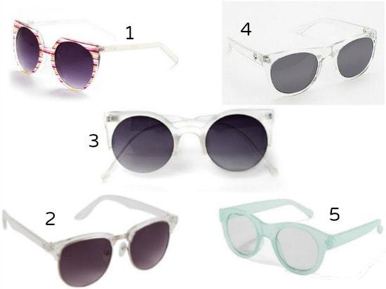 Inexpensive lucite sunglasses