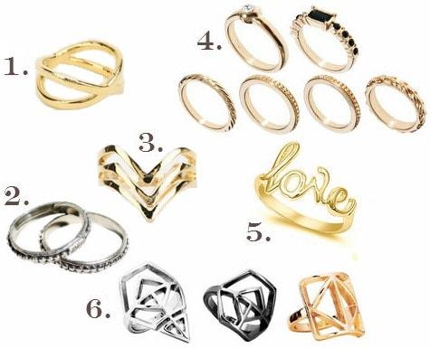 Inexpensive midi rings