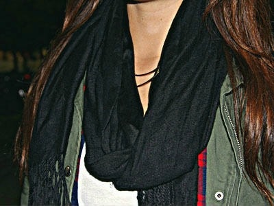 black scarf and utility jacket student fashion trends