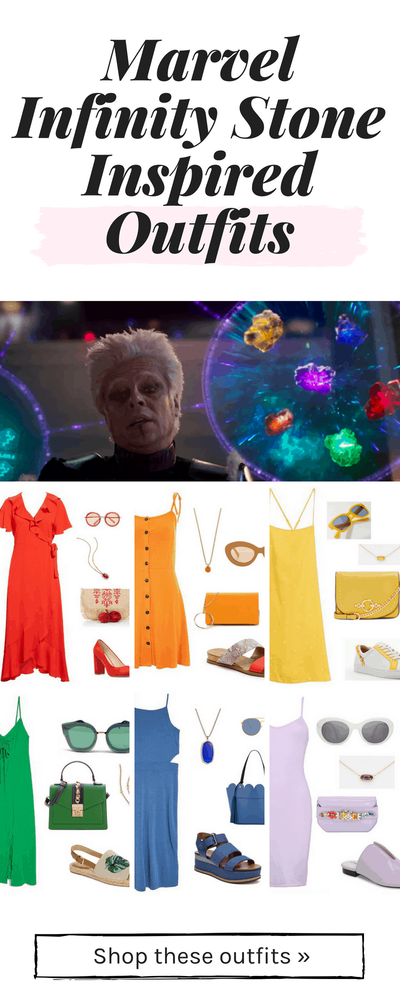 Marvel Infinity Stone inspired outfits - geek chic fashion