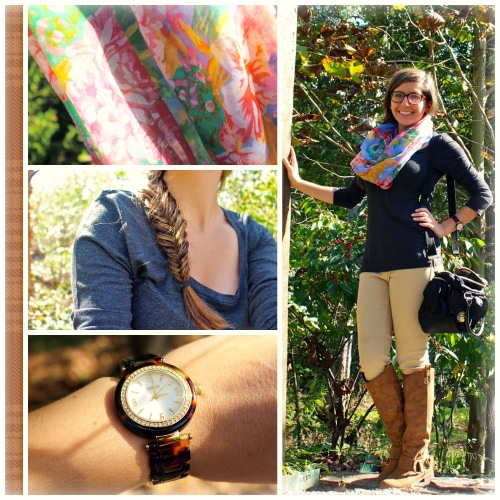 Leah-Infinity-Scarf-Tan-Pants-Watch-Fishtail