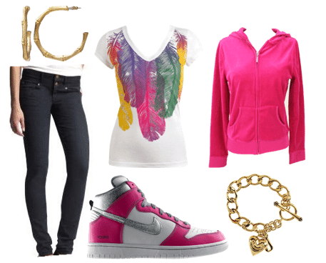 Outfit inspired by Mercedes from Glee