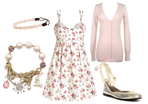 Outfit inspired by Quinn from Glee