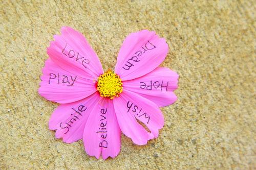 Inspiring words flower