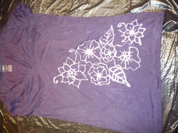 DIY Inverted Dye Tee - Step 5: Dyed tee shirt