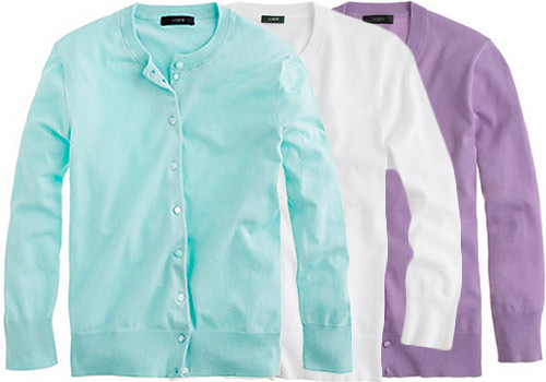 J.Crew Jackie cardigans in assorted colors
