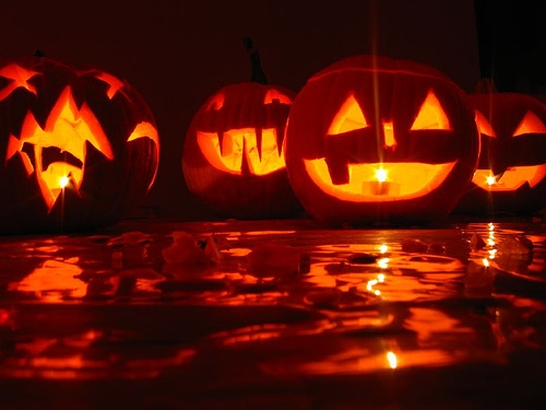 Jack o lanterns for Halloween