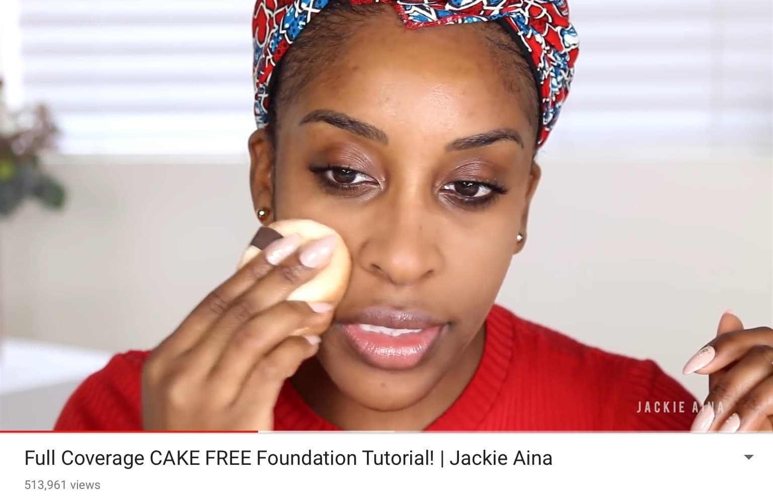Jackie Aina YouTube Video Screenshot