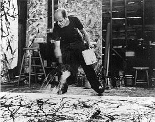 Jackson Pollock process photo by Hans Namuth