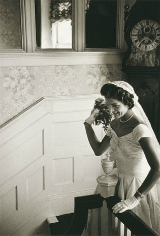 Jacqueline Kennedy wearing an Ann Lowe wedding dress