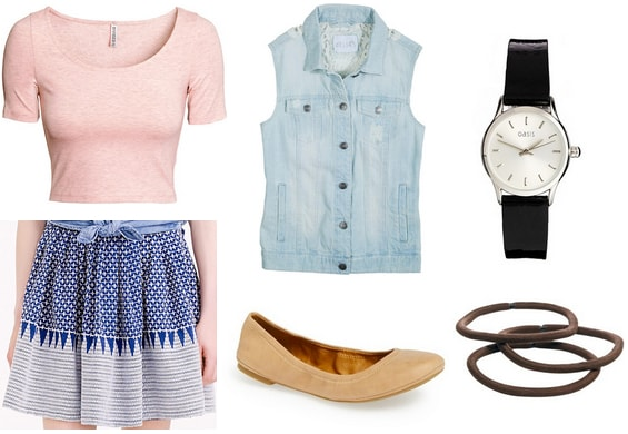 Jamie A Walk to Remember vest and skirt outfit