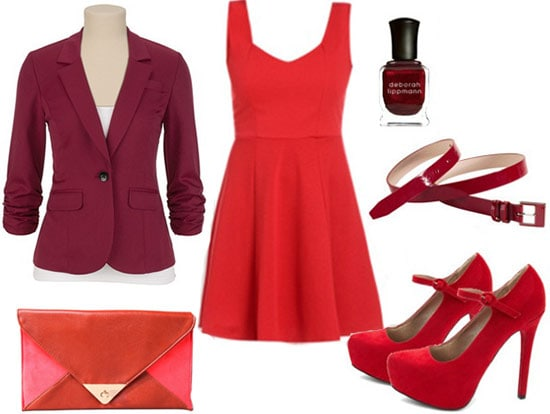 Jane Eyre red dress outfit