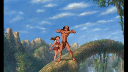 Jane from Disney's Tarzan in the jungle