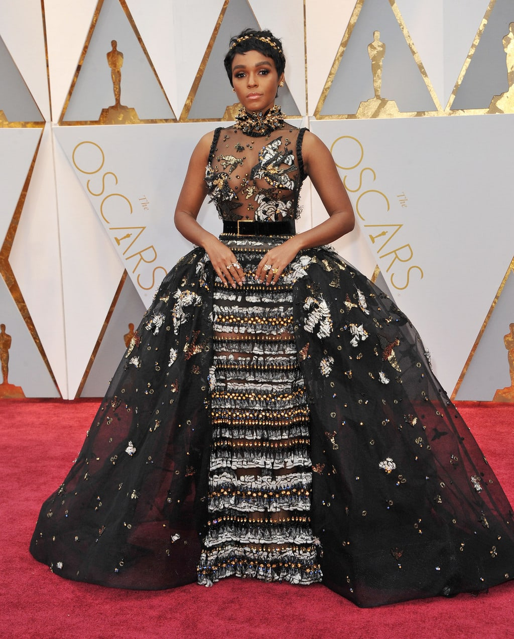 Janelle Monae in Elie Saab Couture at the 2017 Oscars