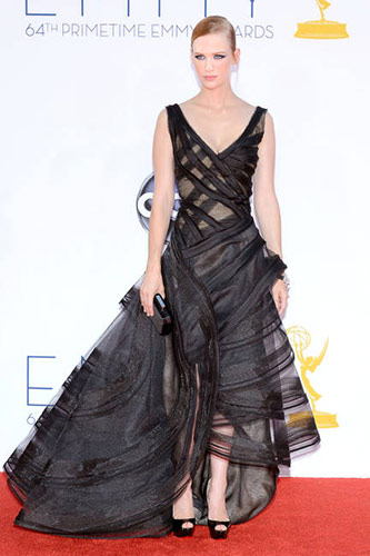 January Jones in Zac Posen at the 2012 Emmy Awards