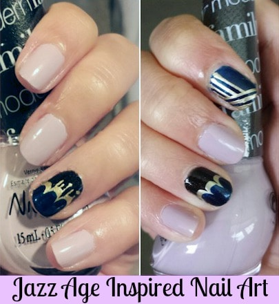 Jazz age inspired nail art