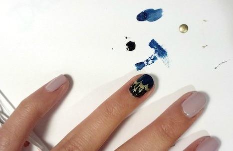 Jazz age nail art step 2