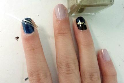 Jazz age nail art step 3