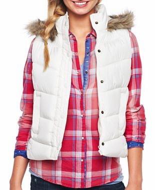 Jcpenney white puffer vest