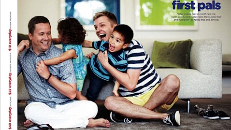 JCPenney Father's Day advertisement featuring same-sex couple