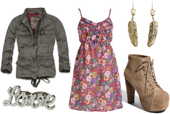 How to wear Jeffrey Campbell lita lace-up boots: Outfit 1