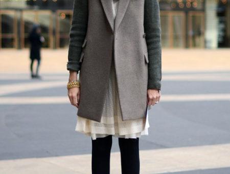 Jenna Lyons in a fur collar