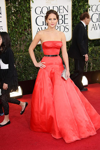 Jennifer Lawrence at the 2013 golden globe awards