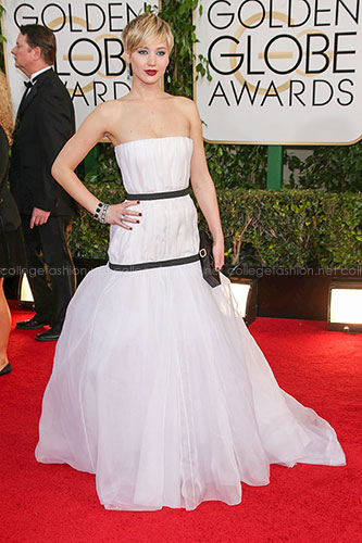 Jennifer Lawrence in Dior at the 2014 Golden Globes