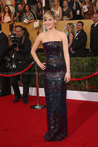 Jennifer Lawrence in Christian Dior Couture at the 2014 SAG Awards