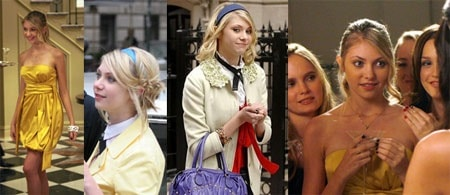 Jenny Humphrey from Gossip Girl's fashion sense: bright colors