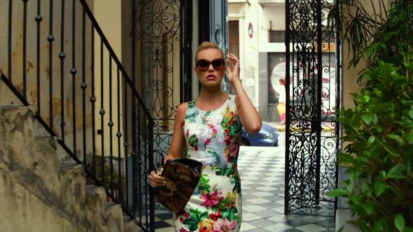 Jess Barrett from Focus in floral dress