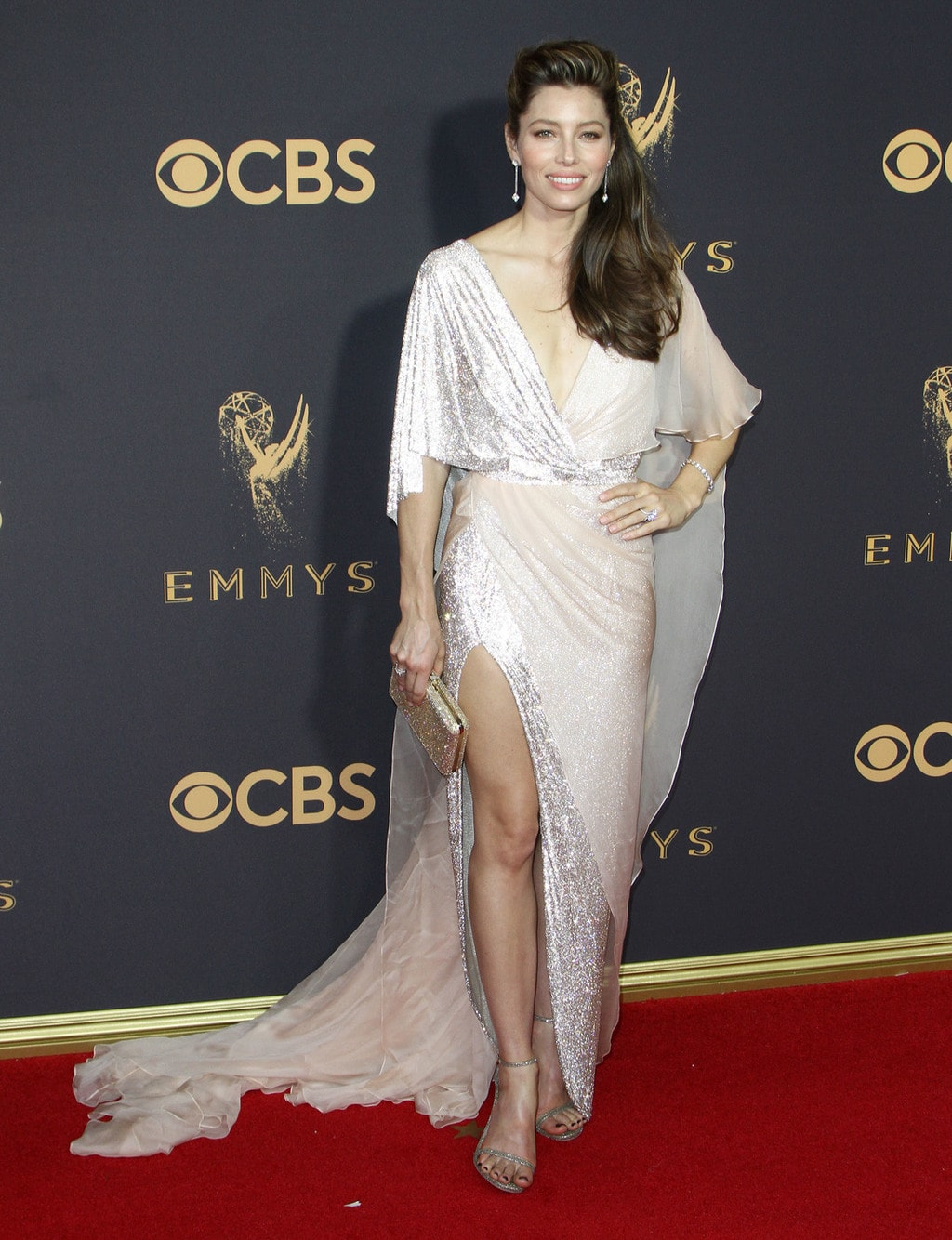 Jessica Biel in Ralph and Russo at the 2017 Emmys