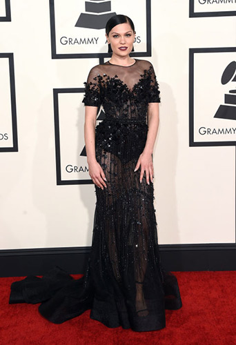 Jessie J in Ralph Russo at the 2015 Grammys