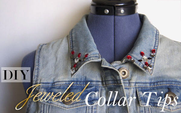 Jeweled collar tips
