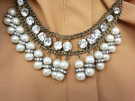 Jeweled statement necklace at loyola university new orleans