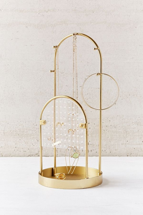 Gold jewelry holder