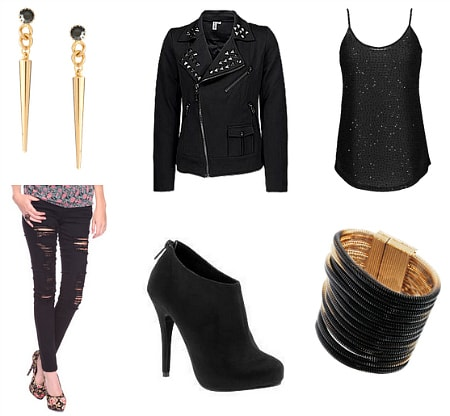 Joan Jett Inspired Outfit 3