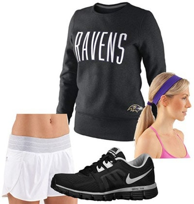 Jock-inspired outfit
