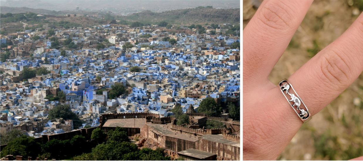 My ring reminds me of my experience in Jodhpur, Rajasthan (The Blue City)