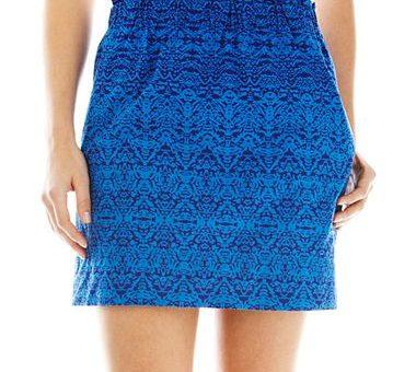 Joe Fresh Blue Printed Skirt