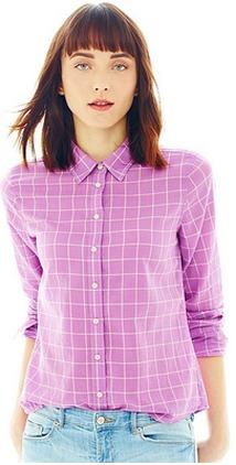 d534421d76bc8 Fabulous Find of the Week: Joe Fresh Button-Front Plaid Shirt ...