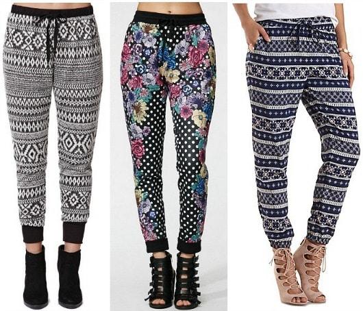 Jogger pants trend