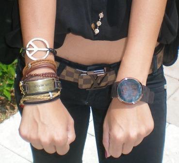 Johanna's bracelets - University of Miami style