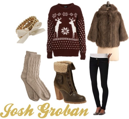 Outfit inspired by Josh Groban's Christmas album