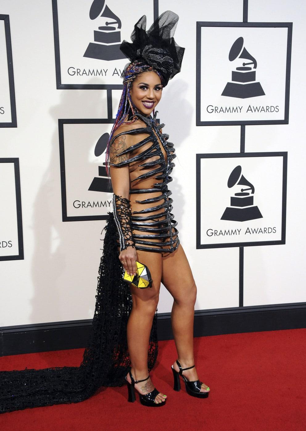 Joy Villa at the 2016 Grammy Awards