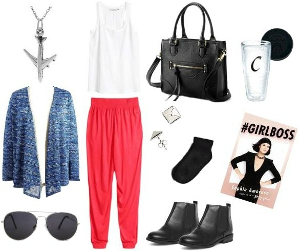 Juicy Couture inspired airplane outfit