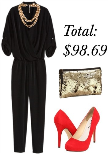 Jumpsuit holiday outfit