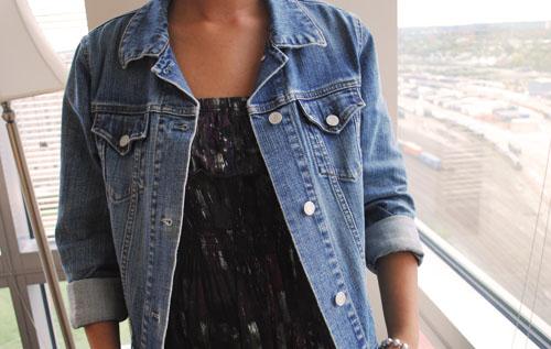 BU street style with college fashionista Justine - Jean Jacket