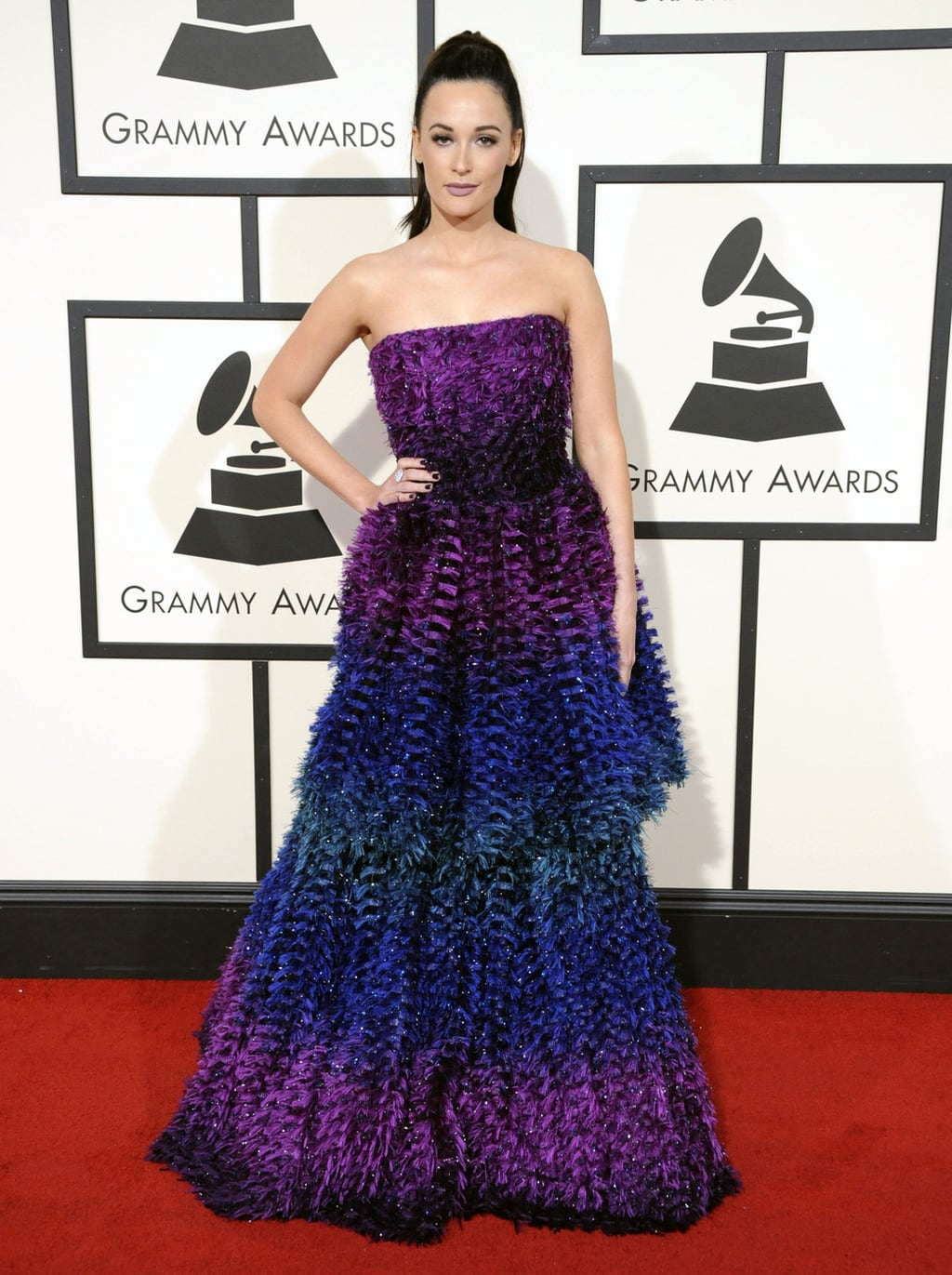 Kacey Musgraves in Armani Prive at the 2016 Grammy Awards